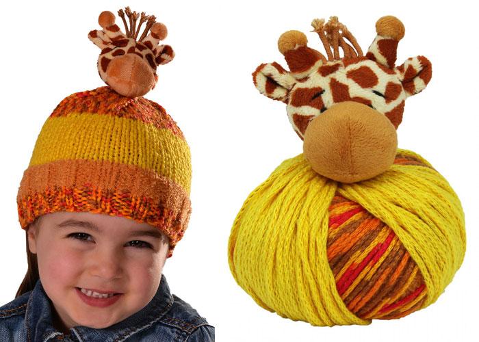 0334ffa38 Top This Knitted Hat Kit - Giraffe