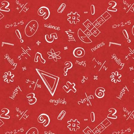 It S Elementary Chalkboard Math On Red