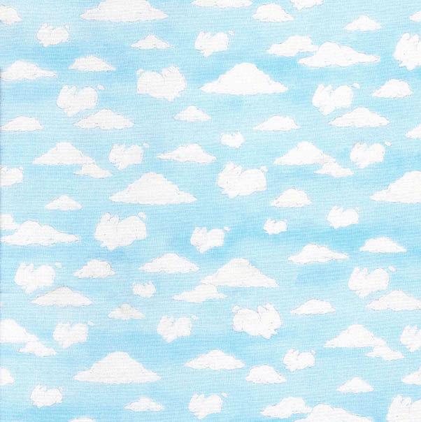 Scenic Boy Teddy Bear Allover Cotton Fabric Blue