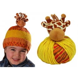 Top This Knitted Hat Kit - Giraffe