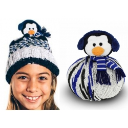 Top This Knitted Hat Kit - Penguin