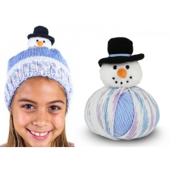 Top This Knitted Hat Kit - Snowman