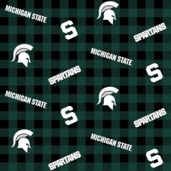 College Buffalo Plaid Michigan State University