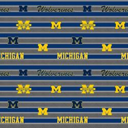 College Polo Stripe University of Michigan