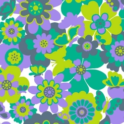 Let's Play Dolls Floral Lime