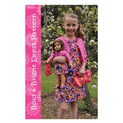 Let's Play Dolls Bold and Bright Dress Pattern