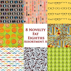 8 Fat Eighths Novelties-A Bundle