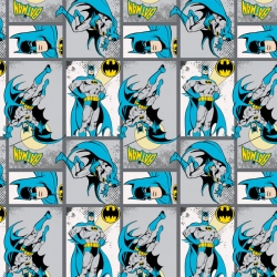 Super Heroes Batman Patchwork Gray
