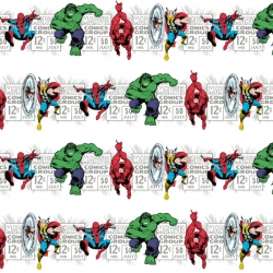 Marvel Comics Super Hero Stripe White