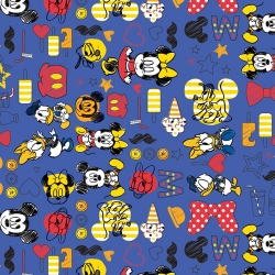 Mickey Mouse & Friends on Blue