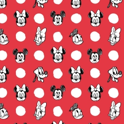 Mickey Mouse Character Jumbo Dots on Red