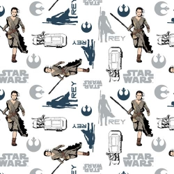Star Wars Force Awakens Rey Toss White
