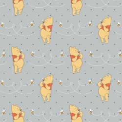 Winnie the Pooh Honeybee on Light Gray