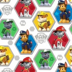 Paw Patrol Hexagons on White