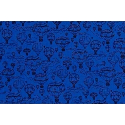 Hot Air Balloons Tonal Blue