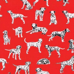 Hook and Ladder Dalmatians on Red
