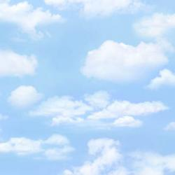Blue Sky White Clouds Fabric
