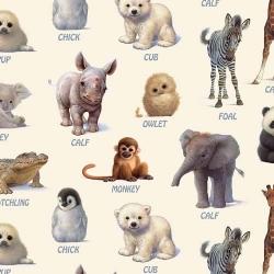 Animal Friends Exotic Animal Baby Names Cream