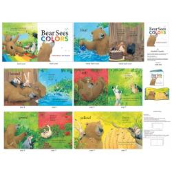 Bear Sees Colors Book Panel