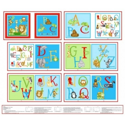ABC-123 Alphabet Book Panel