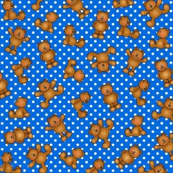 Alpha-Bears Bears and Dots Blue