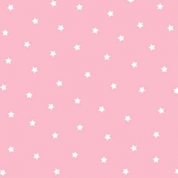 Bears and Buddies Flannel Stars on Pink