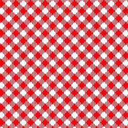 Best Friends Farm Red & White Diagonal Check