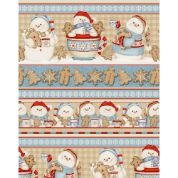 Cocoa and Cookies Snowman Stripe