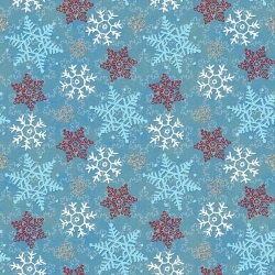 Cocoa and Cookies Snowflakes Blue