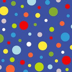 Celebrate Summer Dots on Blue