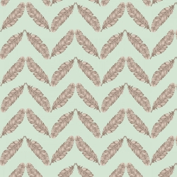 Fresh & Fab Feathered Herringbone Aqua