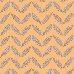 Fresh & Fab Feathered Herringbone Peach