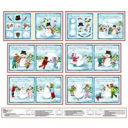Frosty Flakes How to Build a Snowman Soft Book Panel