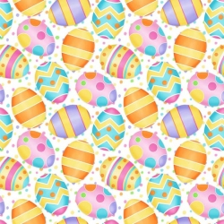Hippity Hop Easter Eggs on White