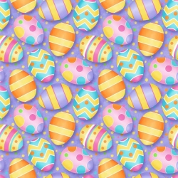 Hippity Hop Easter Eggs on Purple