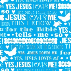 Jesus Loves Me Lyrics Blue