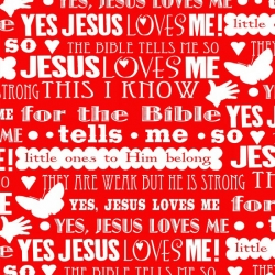 Jesus Loves Me Lyrics Red