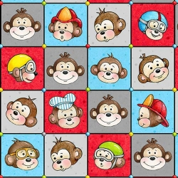 Monkey Around Faces in Squares