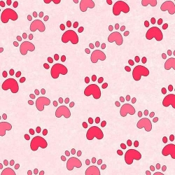 Miss Kitty's Colors Paw Prints Pink