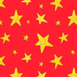 Rhyme Time Stars on Red