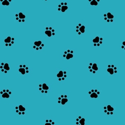 Spot's Perfect Day Paw Prints Aqua