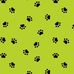 Spot's Perfect Day Paw Prints Lime