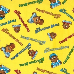 Berenstain Bears Names on Yellow
