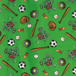 Berenstain Bears Sports Equipment on Green