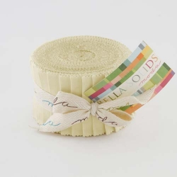 Moda Bella Solid JUNIOR Jelly Roll Snow