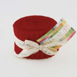Moda Bella Solid JUNIOR Jelly Roll Red