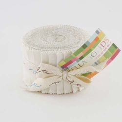 Moda Bella Solid JUNIOR Jelly Roll White