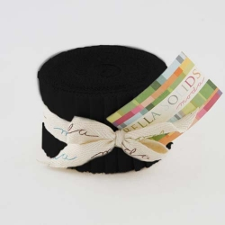 Moda Bella Solid JUNIOR Jelly Roll Black