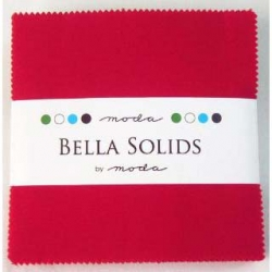 Moda Bella Solid Charms Red