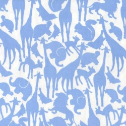 Oh Baby-Boy Animal Silhouettes Blue